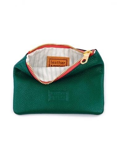 Leather & Paper Deri Mini Çanta Gümüş